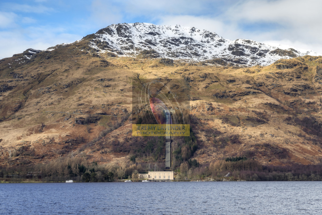 """Loch Sloy Hydro-Electric Facility"" stock image"