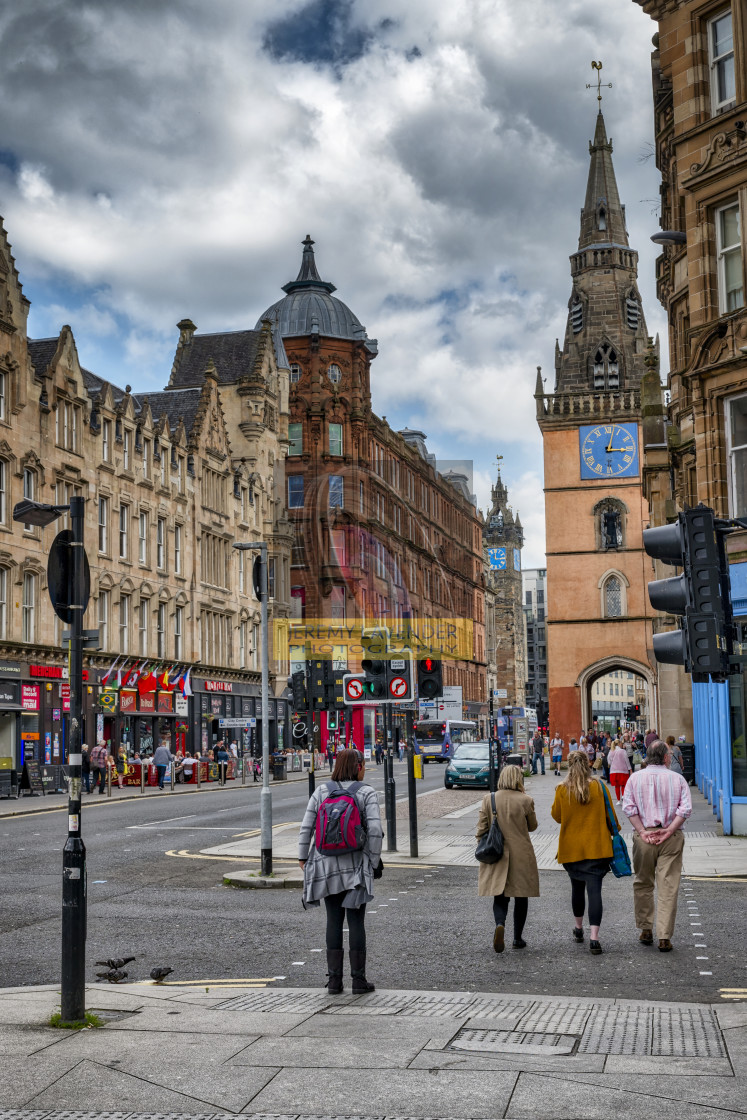 """In the streets of Glasgow"" stock image"