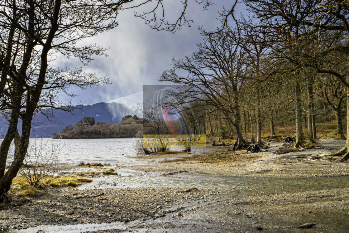 """Sallochy bay in The Trossachs"" stock image"