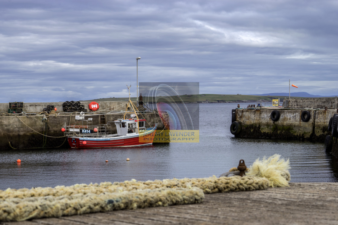 """John o' Groats Harbour"" stock image"