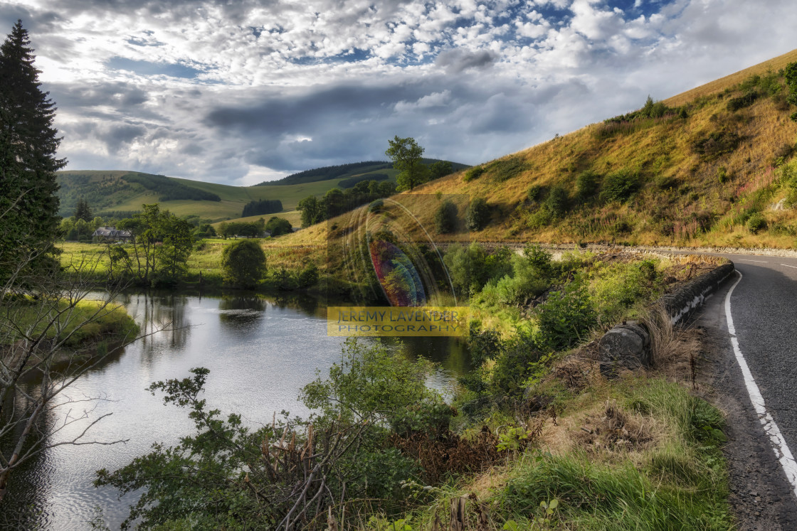 """Countryside in the Scottish Borders"" stock image"
