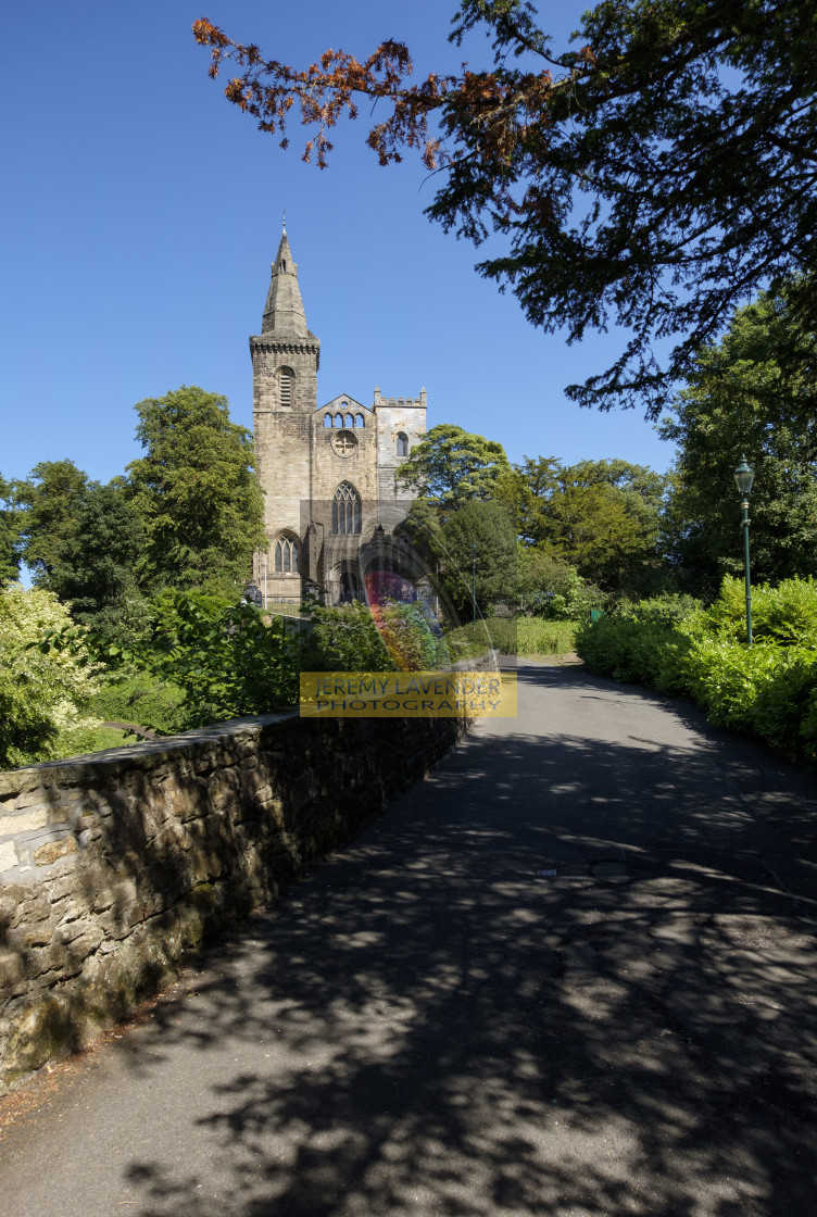 """Dunfermline Abbey in Scotland"" stock image"