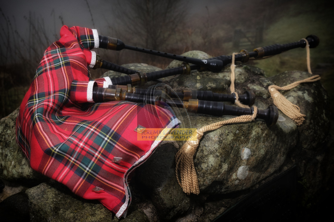 """Scottish Bagpipes"" stock image"
