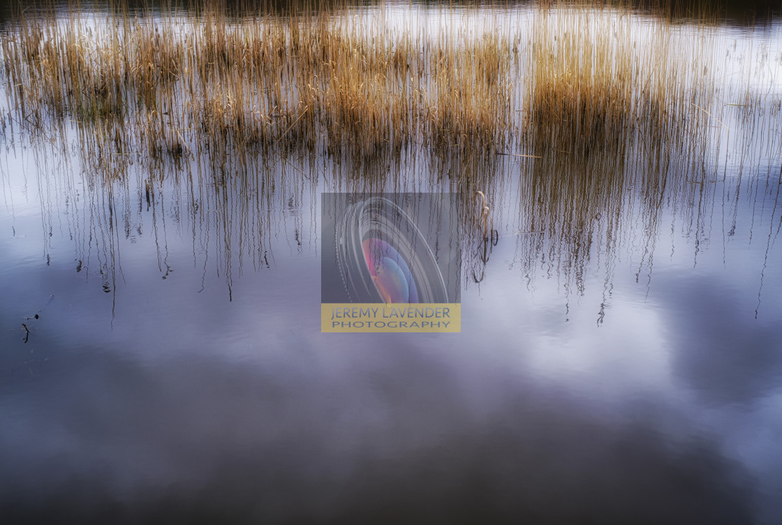 """""""Reflections on Moor Loch"""" stock image"""