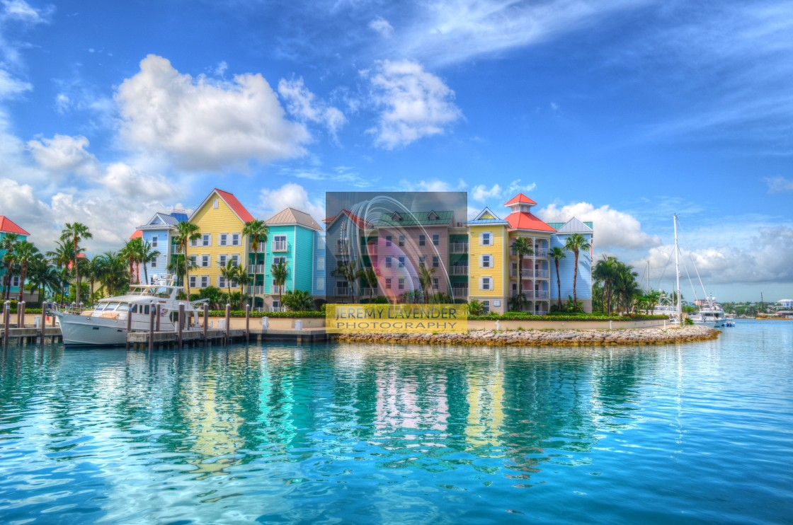"""""""Harbour Village in Paradise Island"""" stock image"""