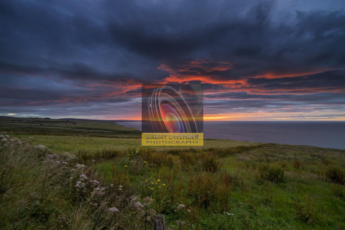 """""""Sunrise over the Scottish Highlands"""" stock image"""
