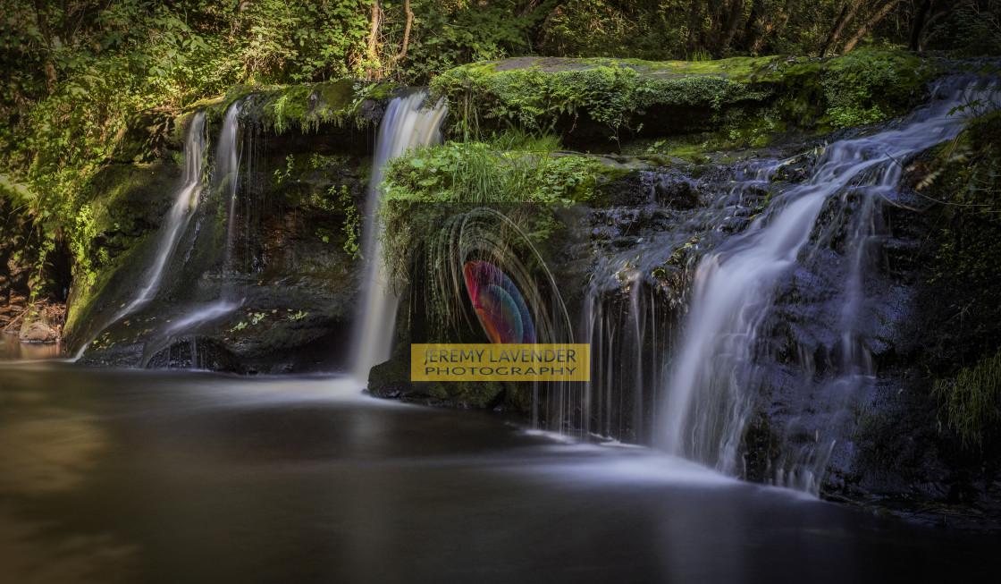 """Black Devon Waterfalls"" stock image"