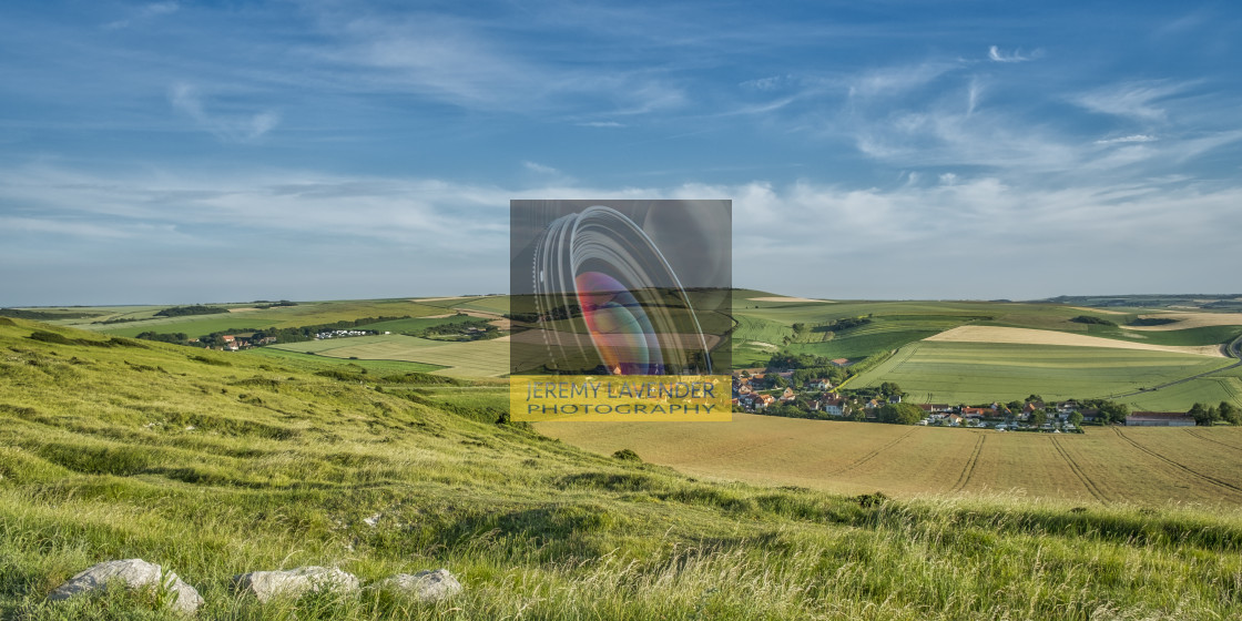 """""""Small village on the French Opal Coast"""" stock image"""