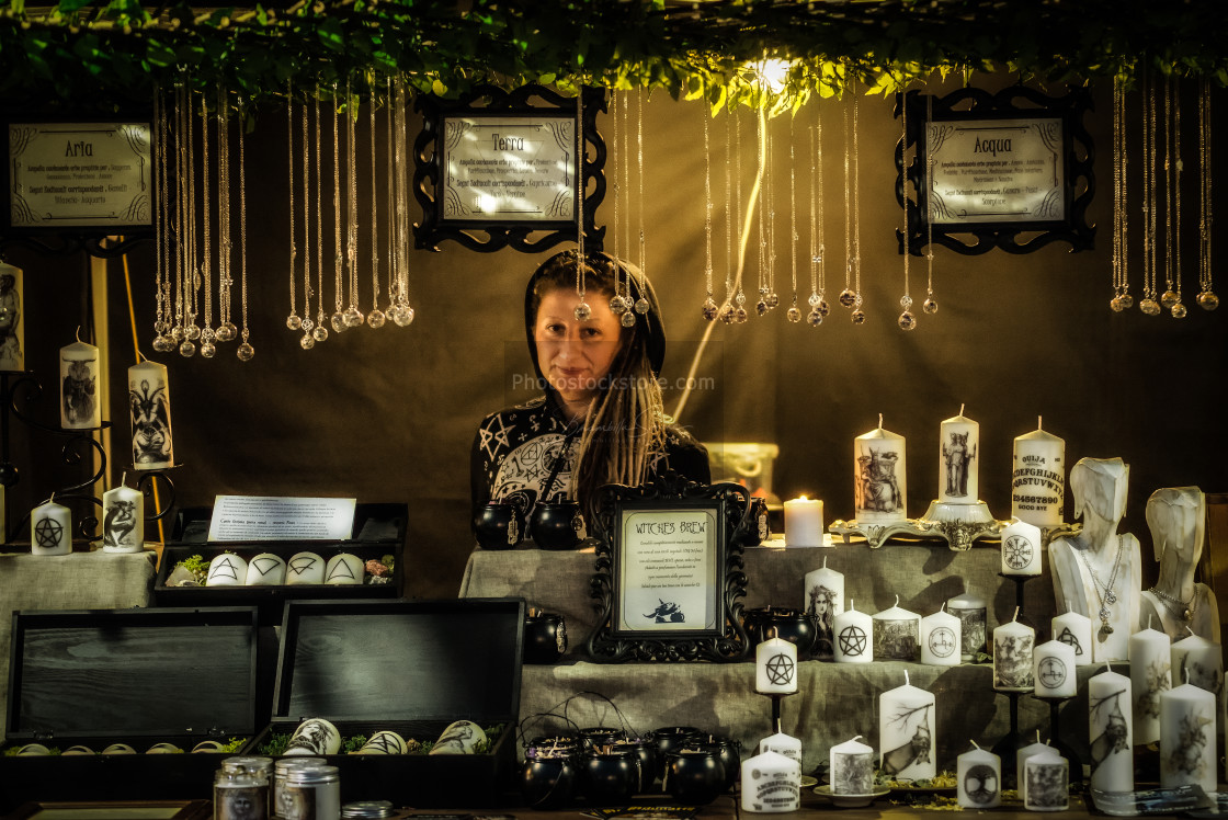 """Merchant at the Insubria Festival"" stock image"
