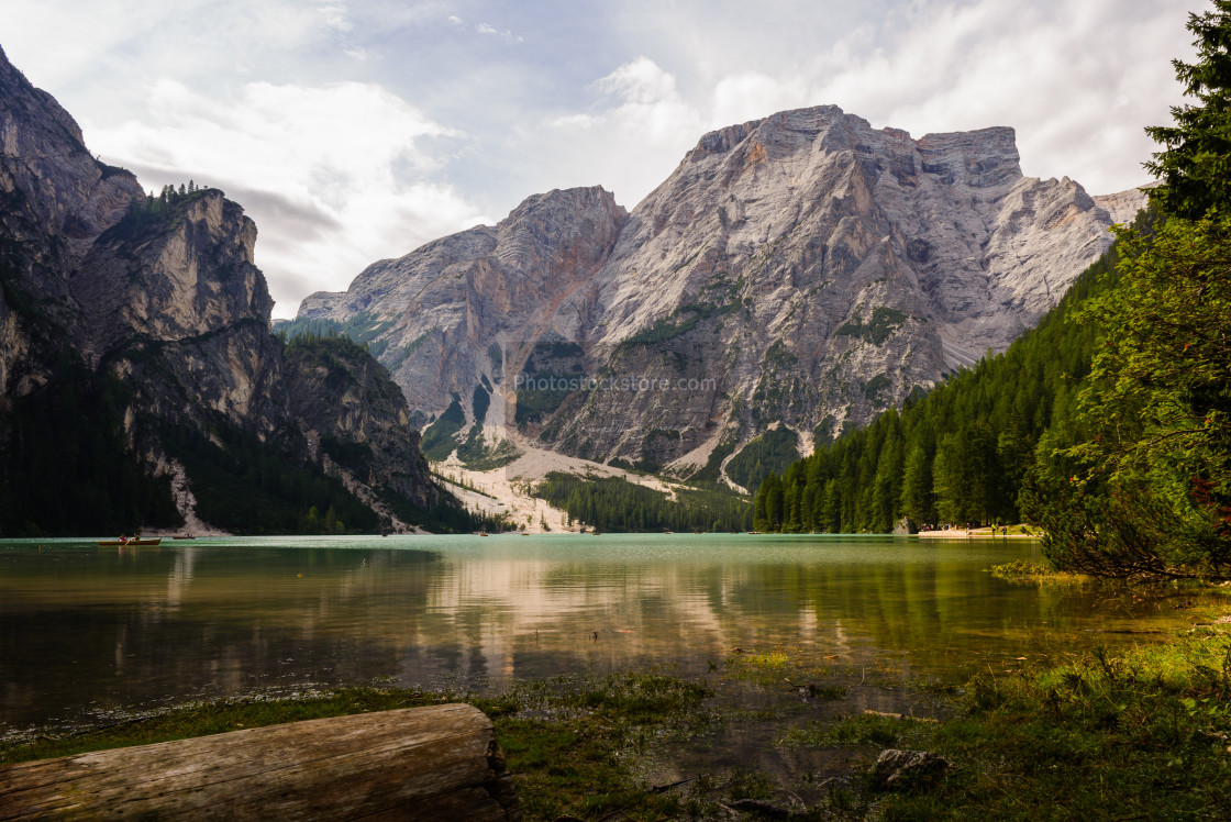 """Lake Braies"" stock image"