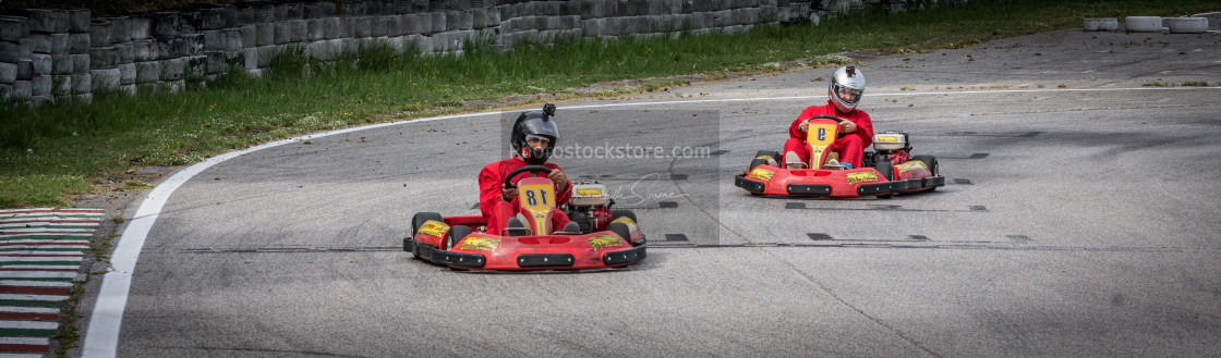 """Go Kart Competition"" stock image"