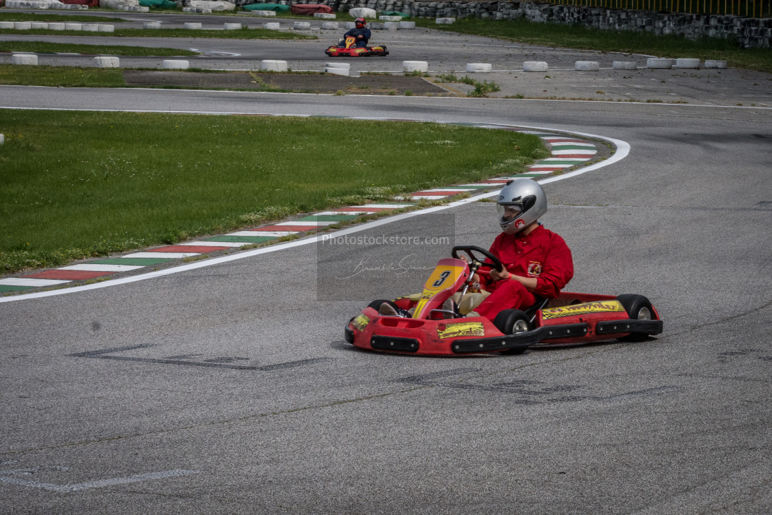 """""""Go Kart Competition"""" stock image"""