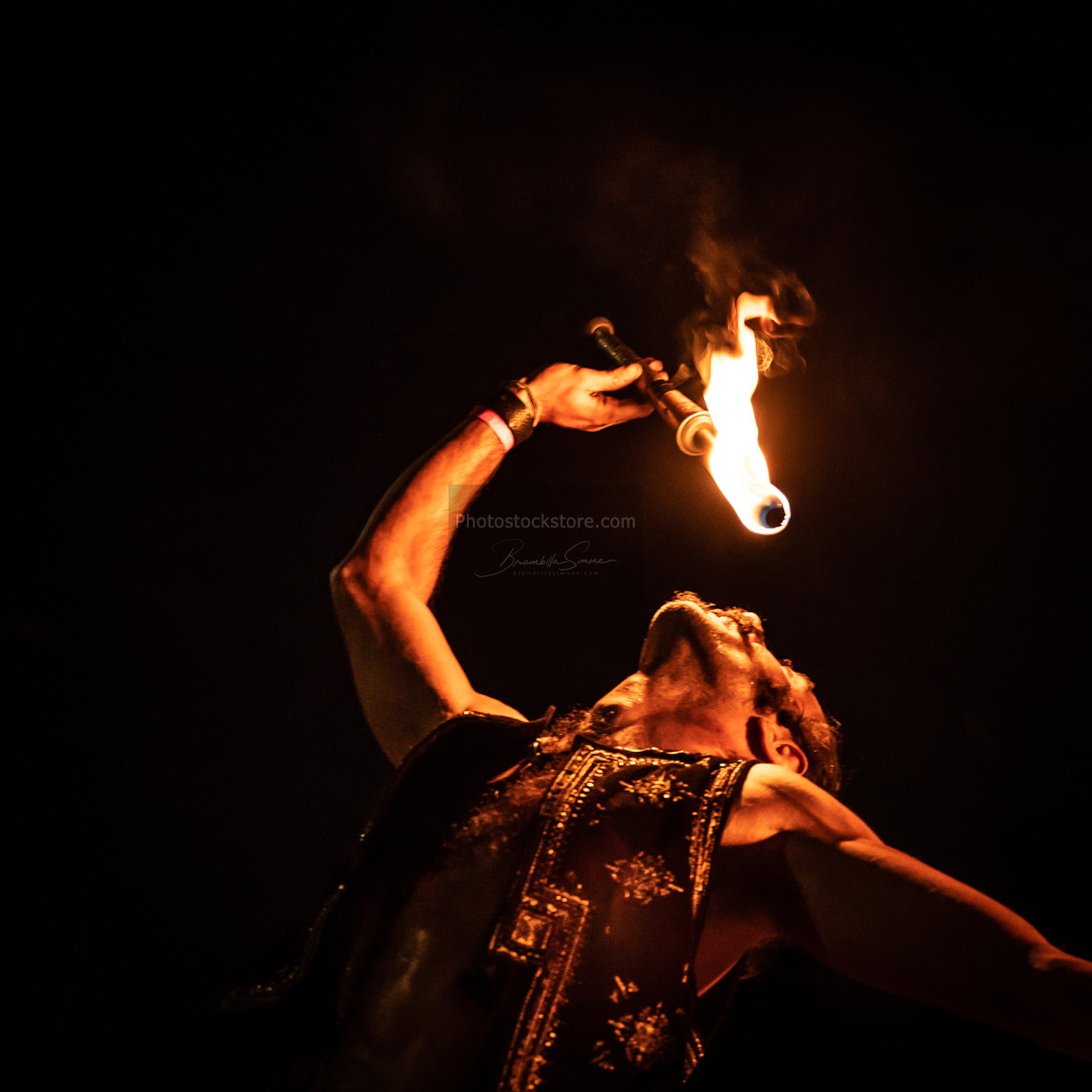 """Fire-eater at Pollo Metal Fest (BG) 26-08-2018"" stock image"