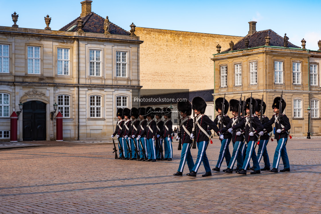 """Changing the guard in Copenaghen"" stock image"