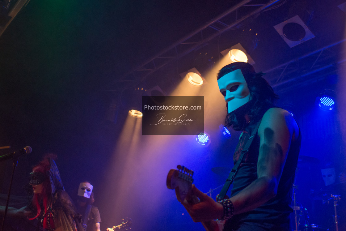 """Theatres des Vampires at Midian Live (Cremona) 06-05-2017"" stock image"