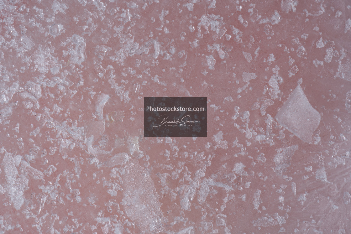 """Icy pink surface"" stock image"