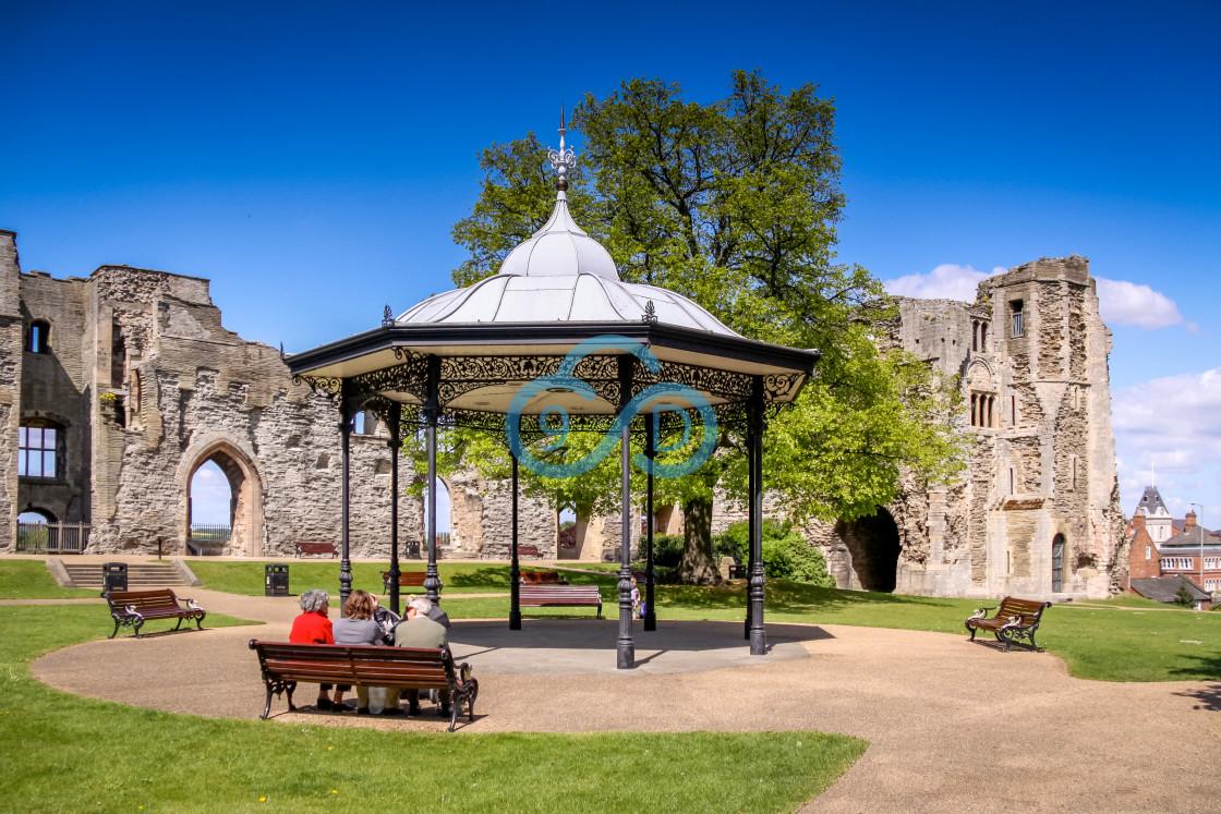 """Newark Castle and Gardens"" stock image"