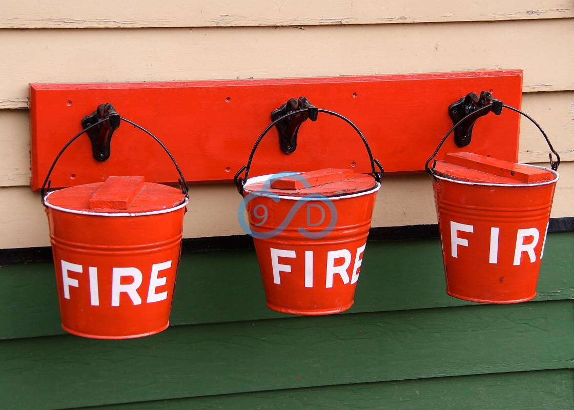 """""""Red Fire Buckets"""" stock image"""