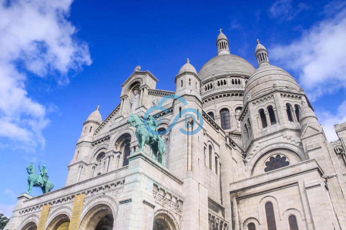 """""""Basilique du Sacré-Cœur, Montmartre, Paris"""" stock image"""
