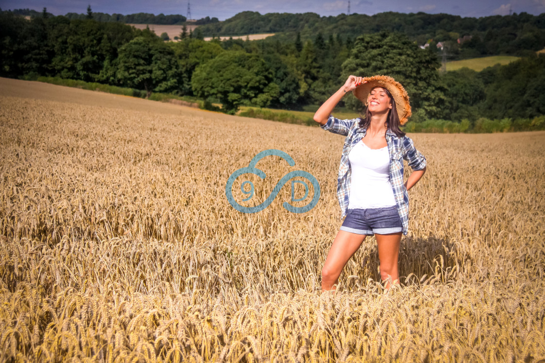 """""""Country Girl"""" stock image"""