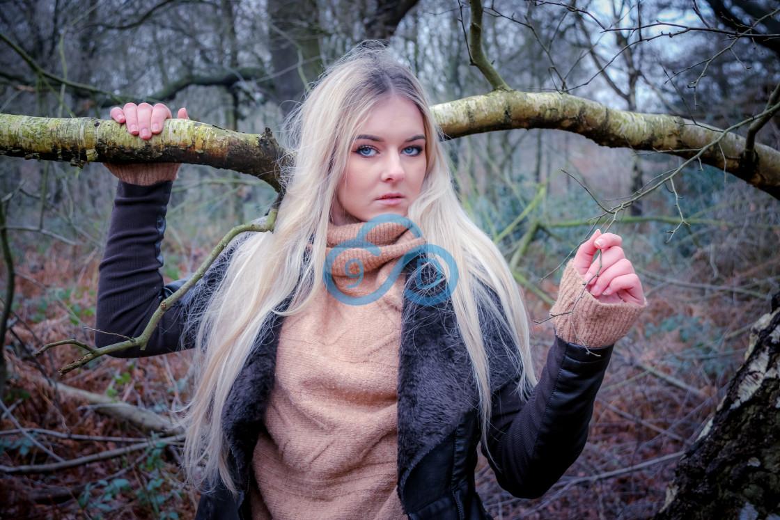 """Woodland Girl"" stock image"