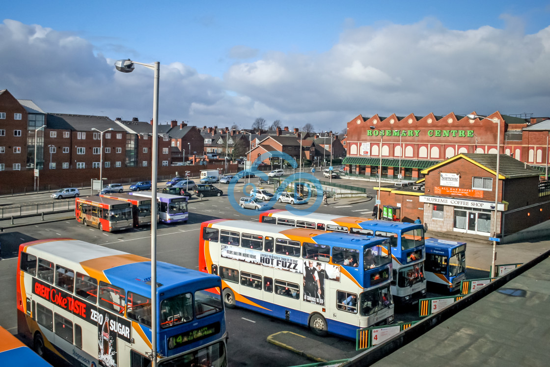 """""""The Old Bus Station, Mansfield"""" stock image"""