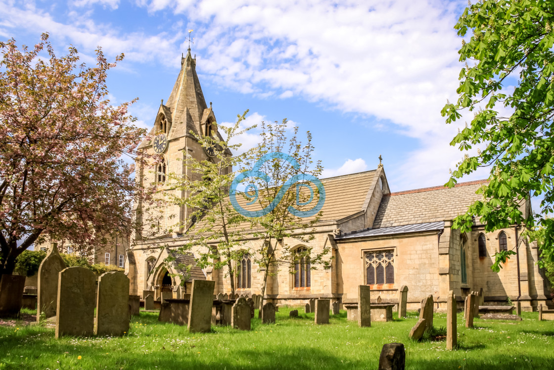 """""""St Edmunds Church, Mansfield Woodhouse"""" stock image"""