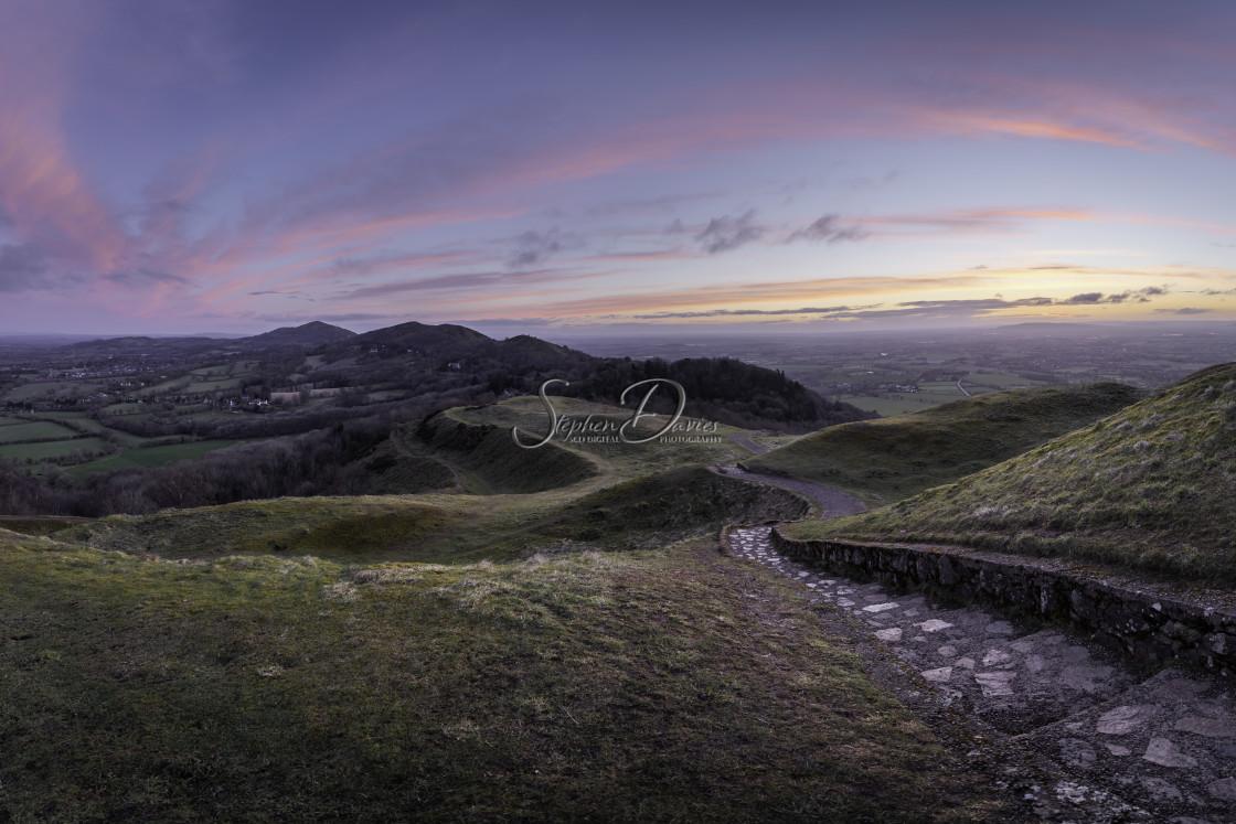 """Malvern Hills Sunrise."" stock image"