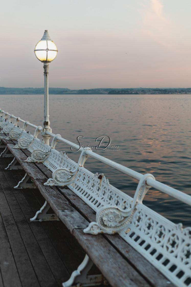 """Boardwalk - Torquay"" stock image"