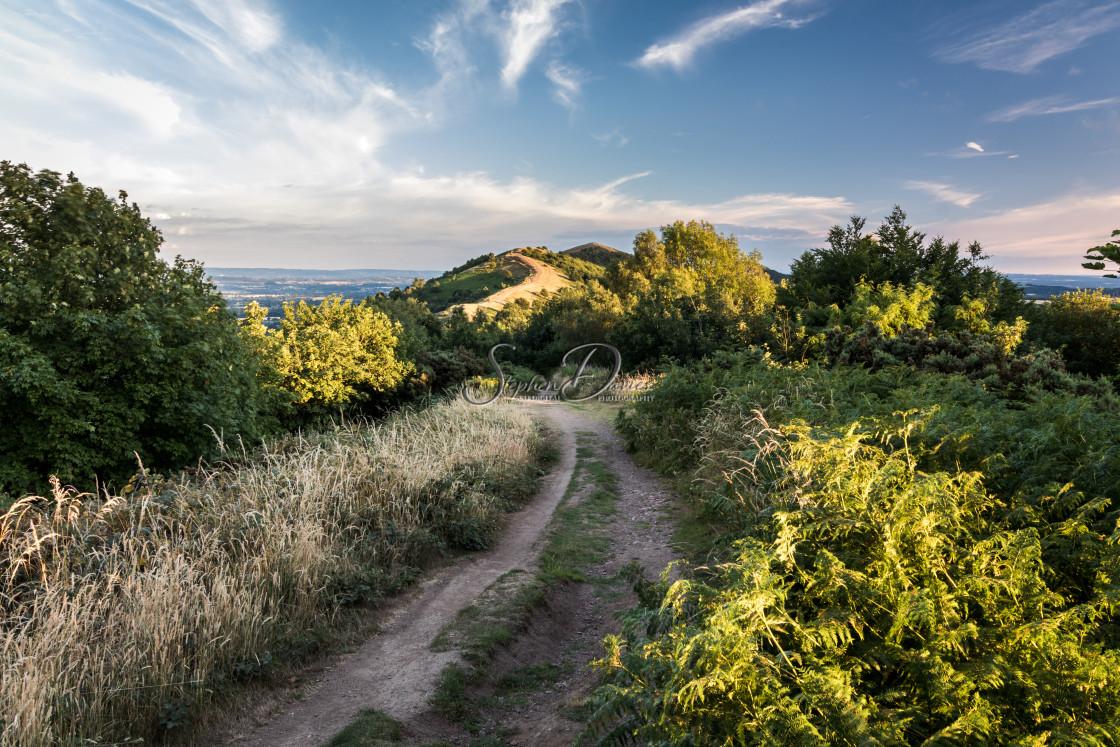 """The Malvern Hills Sunset"" stock image"