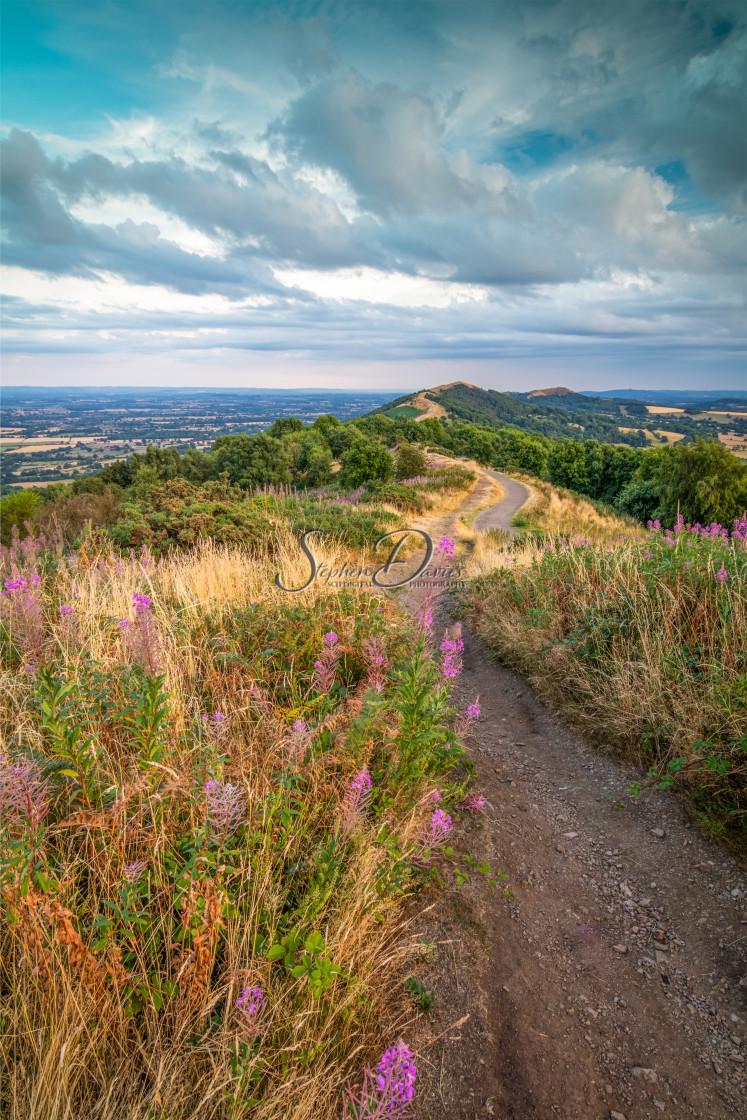 """The Malvern Hills"" stock image"