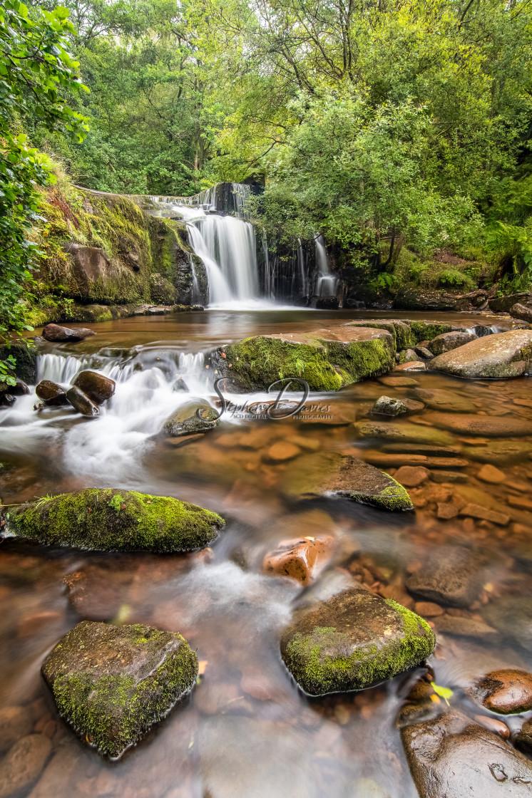 """Welsh waterfall"" stock image"