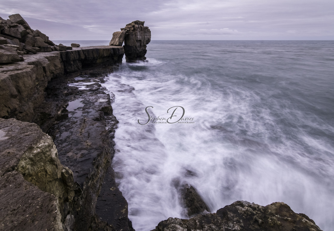 """Pulpit Rock Dorset"" stock image"