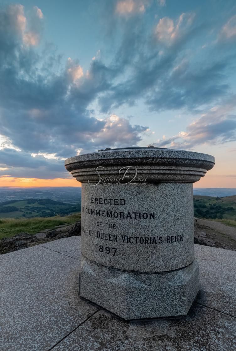 """""""Worcestershire Beacon Sunset"""" stock image"""