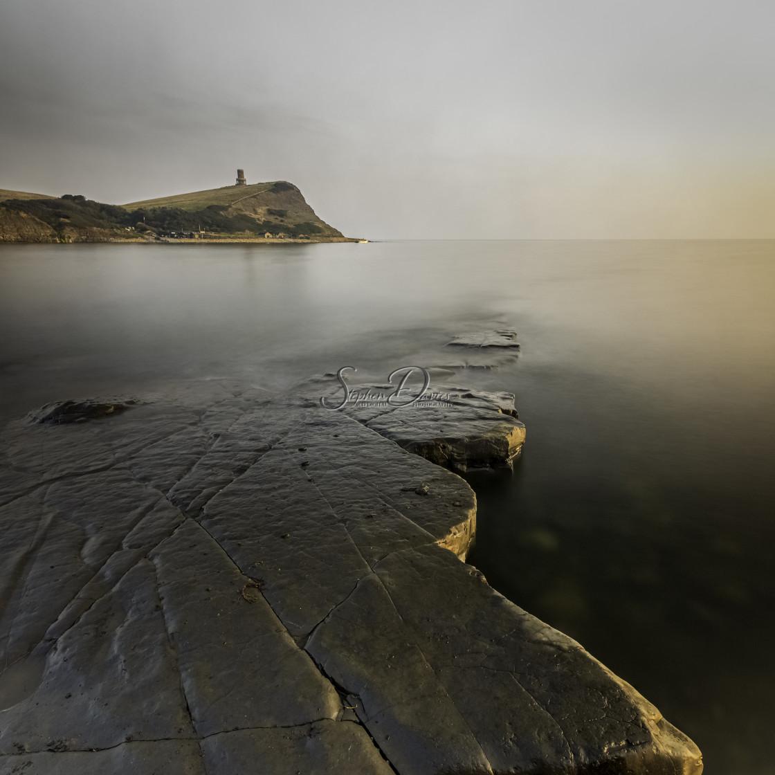 """Kimmeridge Bay, Dorset. Sunset"" stock image"