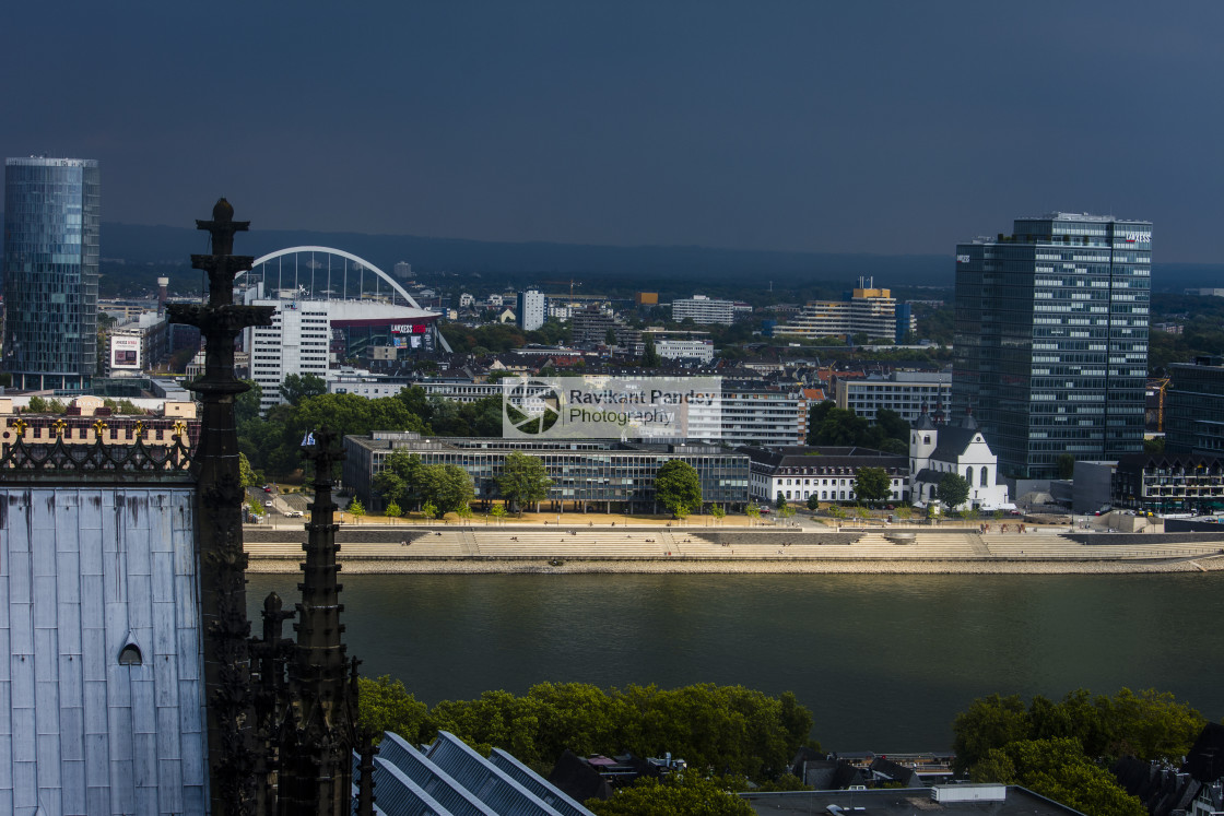 """""""Cologne Cityscape and River Rhine, Germany"""" stock image"""