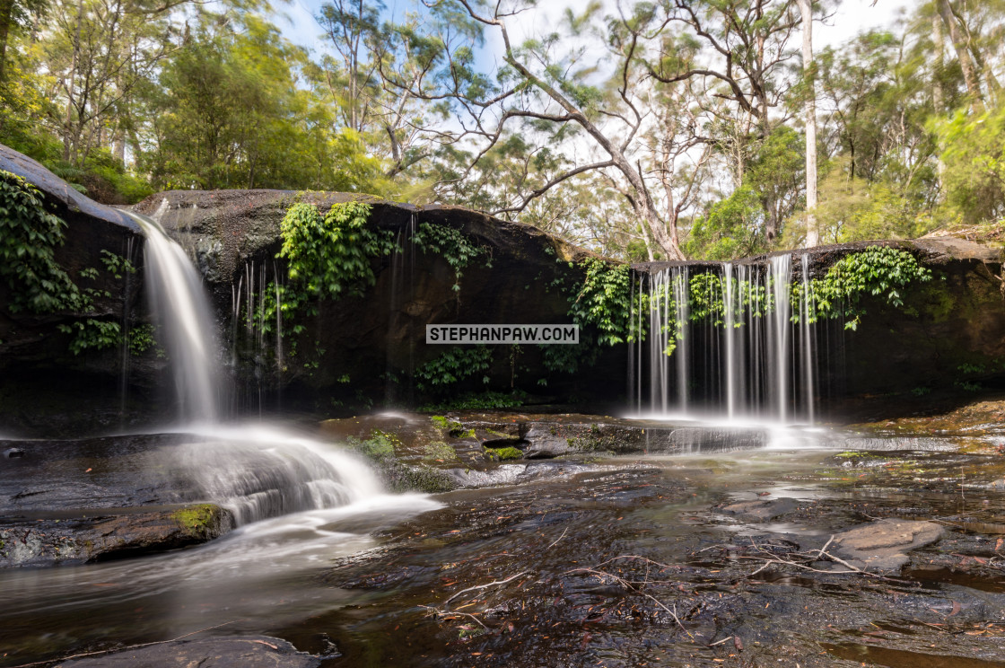 """Horseshoe Falls on Barrengarry Creek"" stock image"