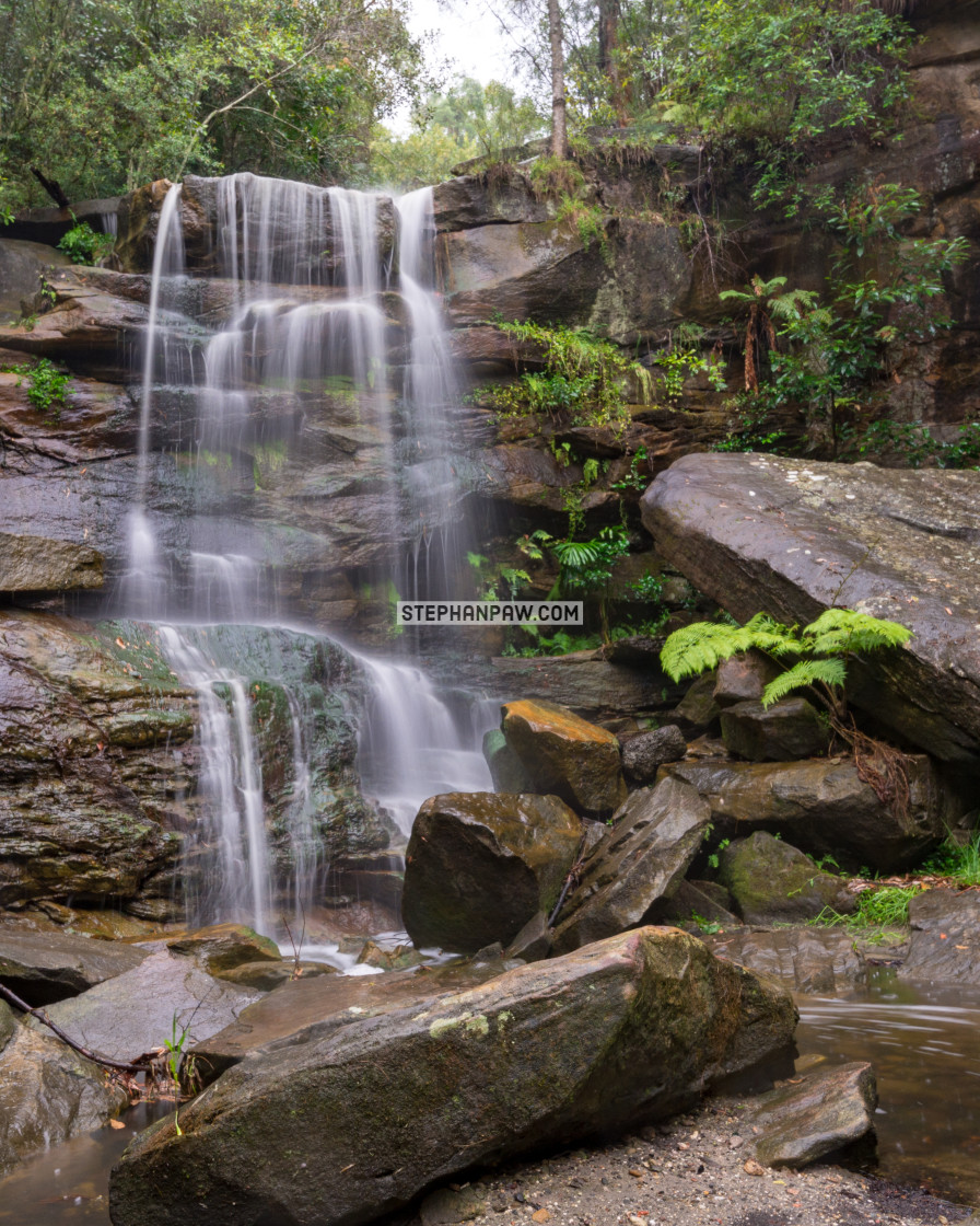 """Deep creek falls"" stock image"