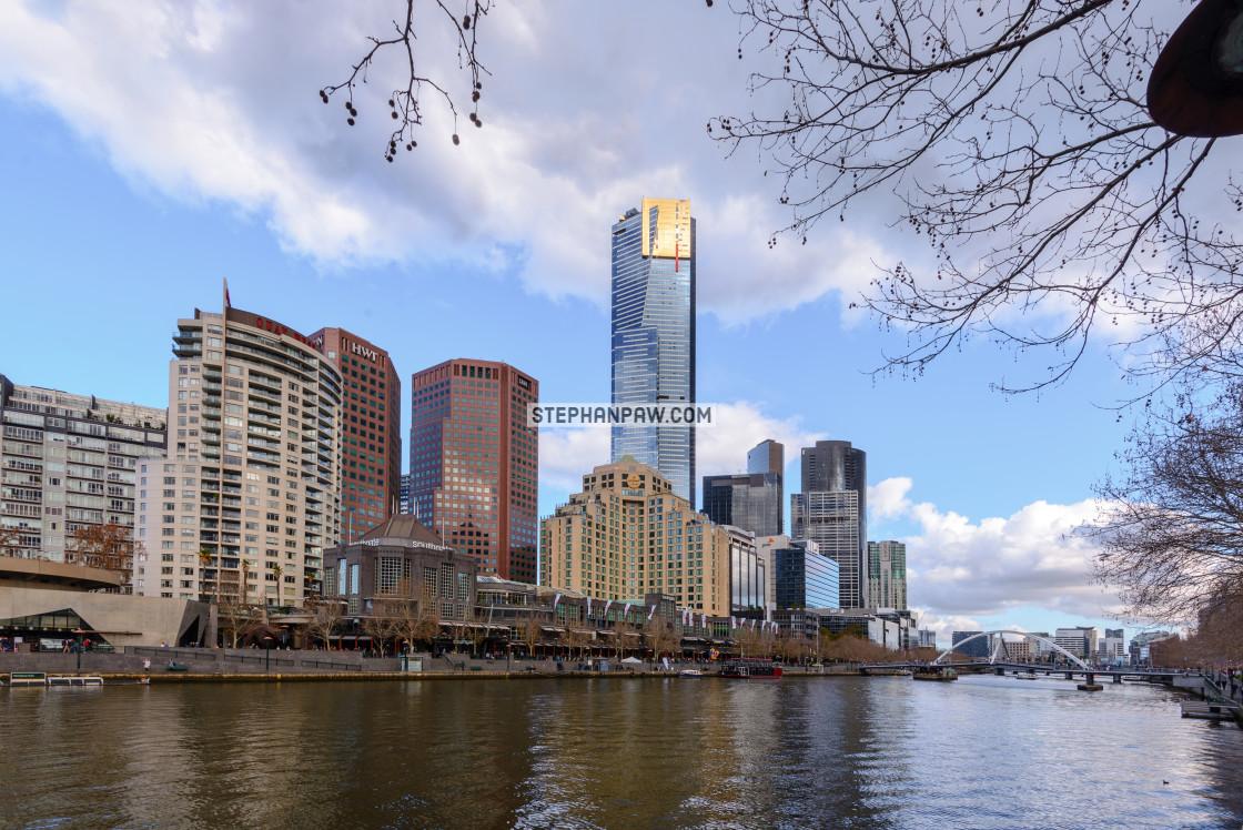 """Eureka tower Yarra river // Melbourne, Australia"" stock image"