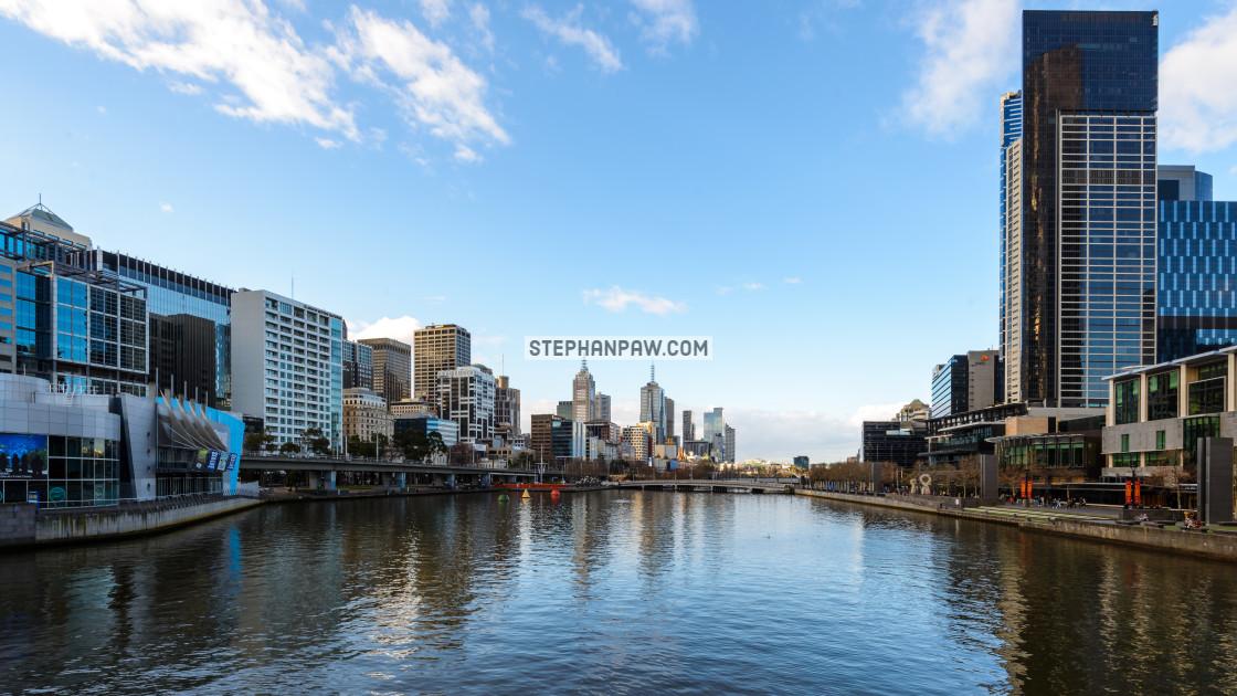 """Melbourne city skyline // Melbourne, Australia"" stock image"