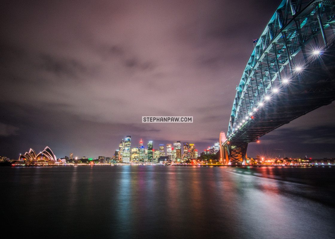 """Sydney Harbour Bridge and Opera House // Sydney, Australia"" stock image"