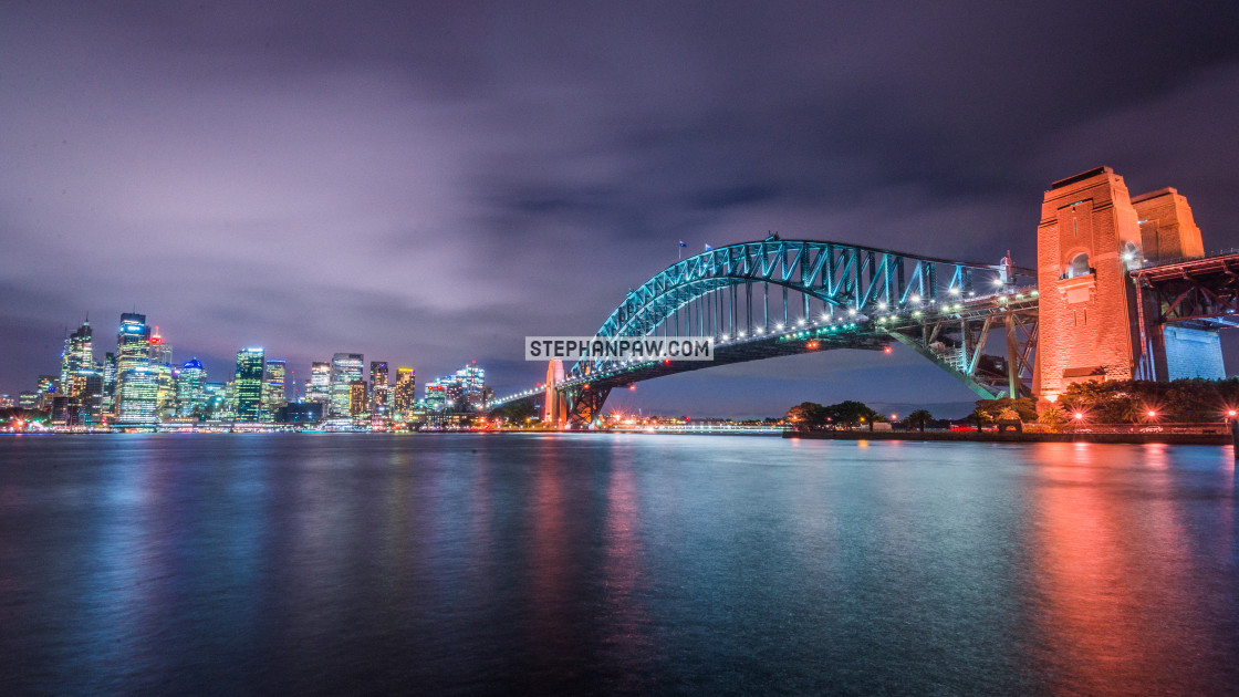 """Sydney Harbour Bridge and city // Sydney, Australia"" stock image"
