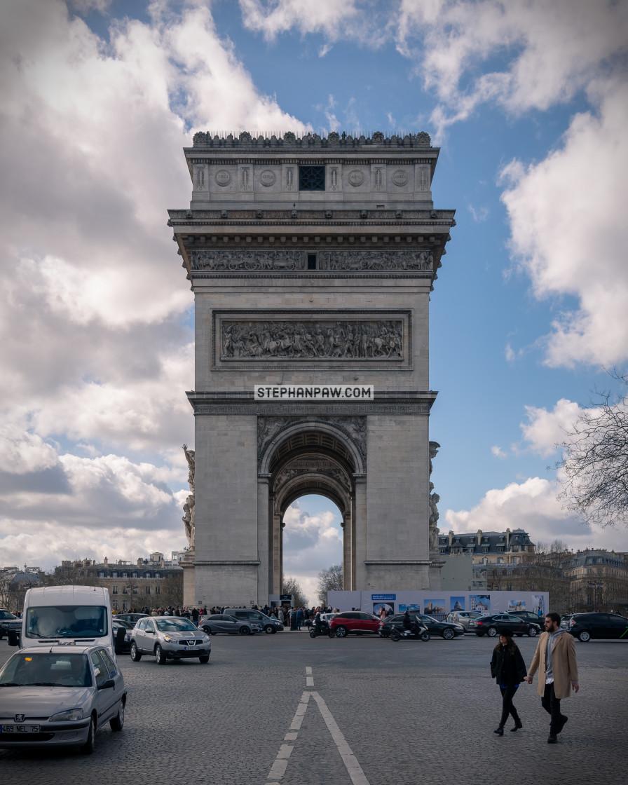 """""""Arc de Triomphe // Paris, France"""" stock image"""