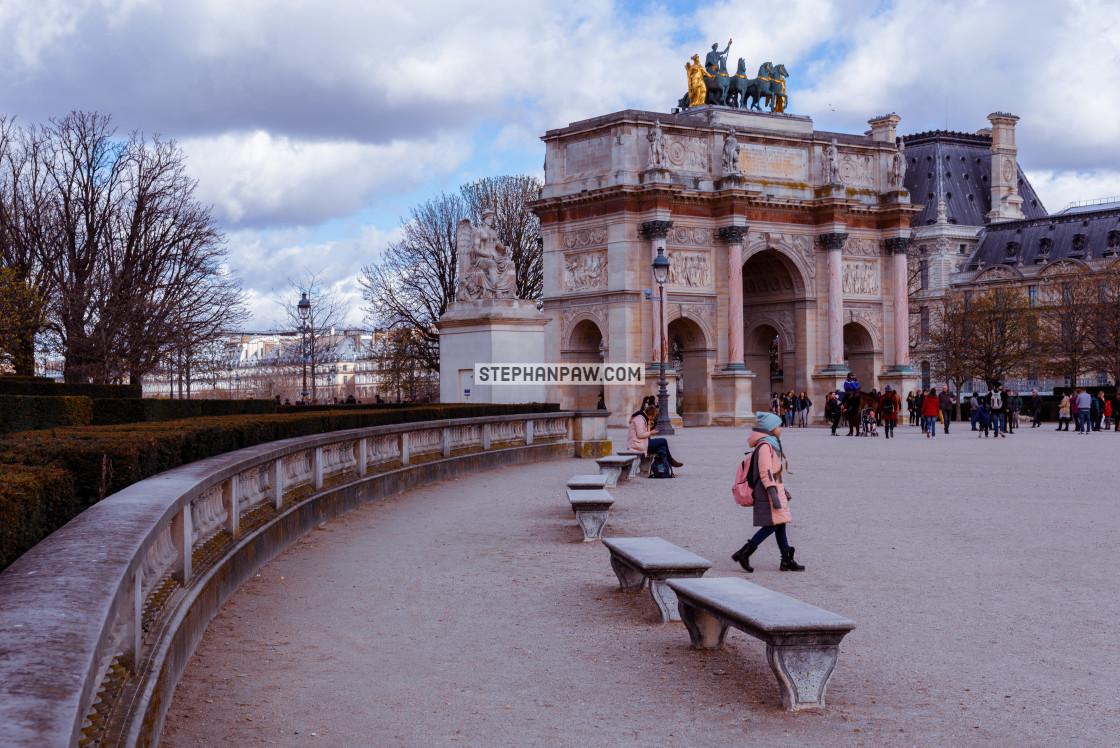 """""""Arc de Triomphe du Carrousel // Paris, France"""" stock image"""