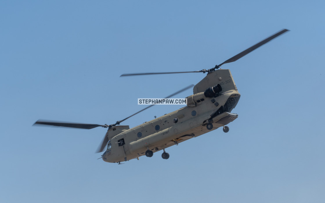 """Australian Army Chinook on display at Avalon Airshow 2019 // Mel"" stock image"