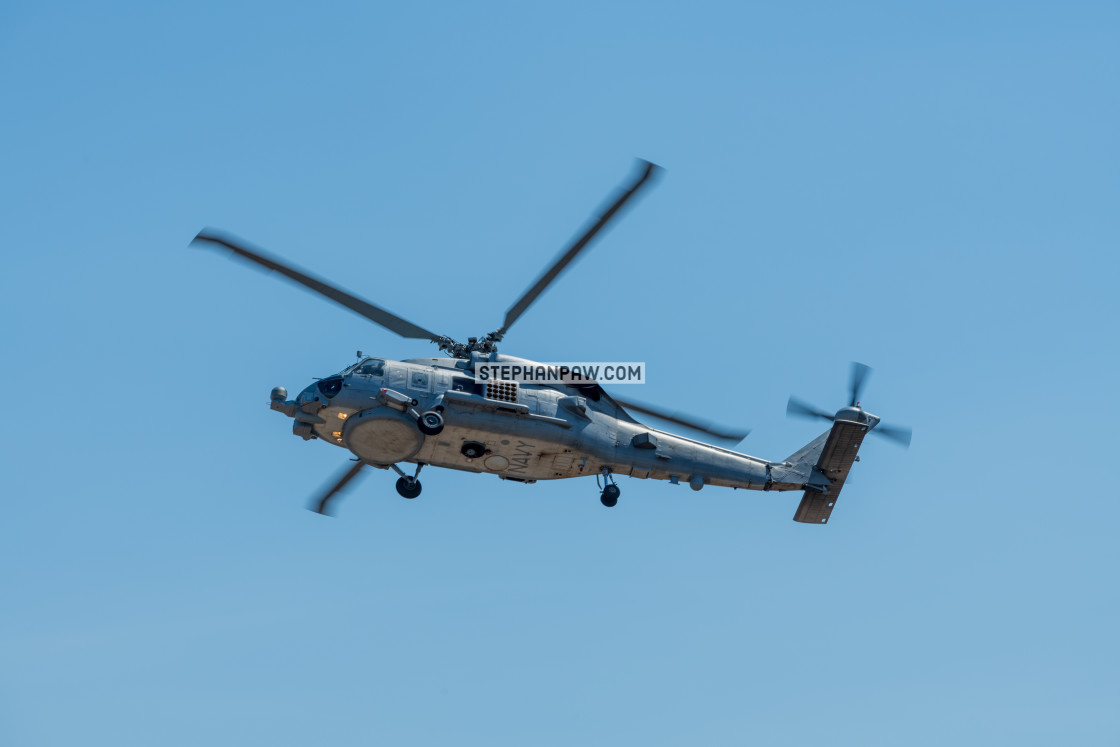 """Royal Australian Navy Seahawk on display at Avalon Airshow 2019"" stock image"