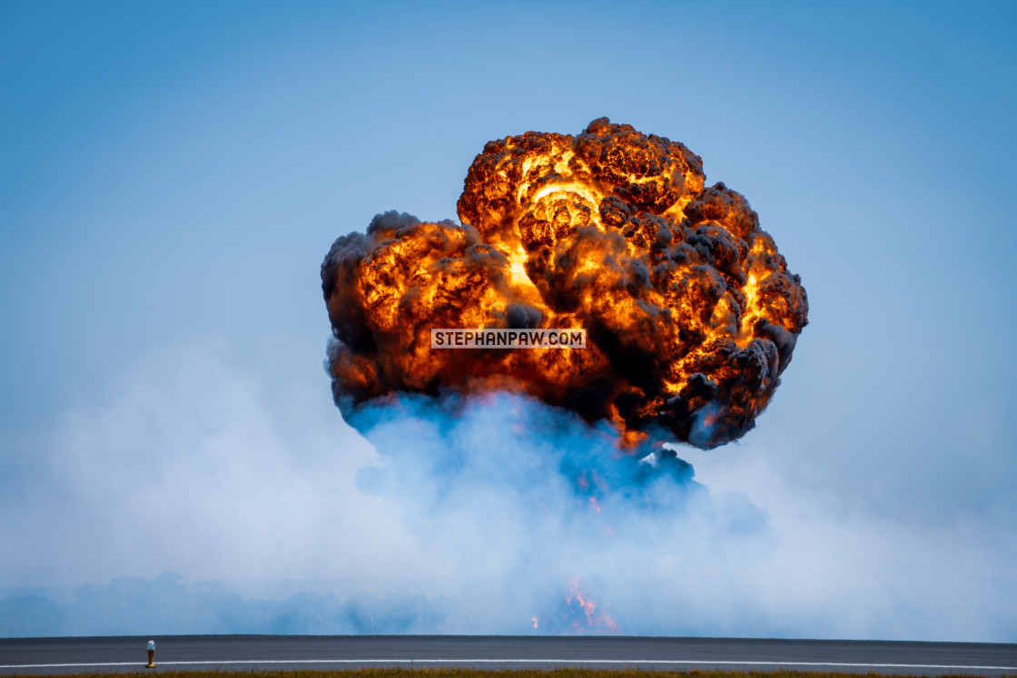 """Simulated bomb burst at the Avalon Airshow 2019 // Melbourne, Au"" stock image"