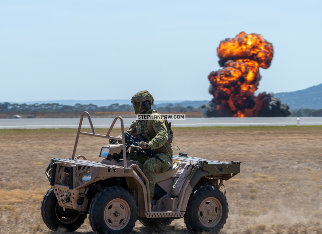 """Air ground defender at the Avalon Airshow 2019 // Melbourne, Aus"" stock image"
