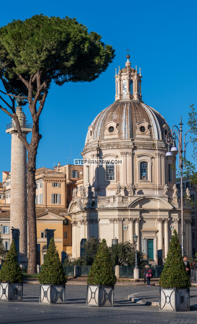 """The Church of Santa Maria di Loreto // Rome, Italy"" stock image"
