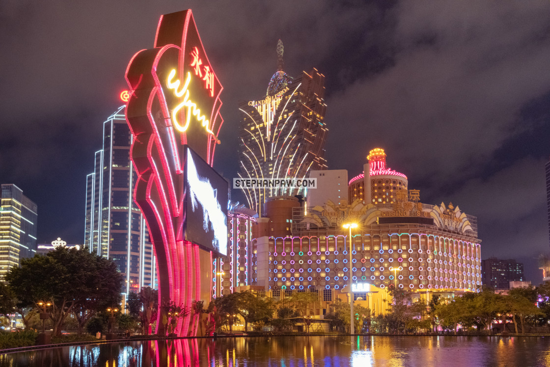 """Casino Glitz // Macau, China"" stock image"